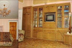Широкая часть комнаты с двуспальным раздвигающимся диваном